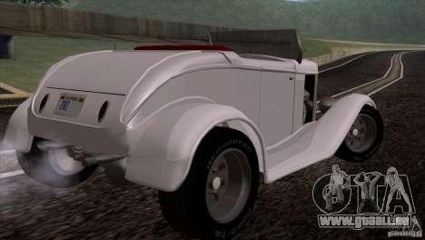 Ford Roadster 1932 pour GTA San Andreas vue de droite