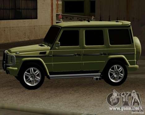 Mercedes-Benz G500 1999 pour GTA San Andreas laissé vue