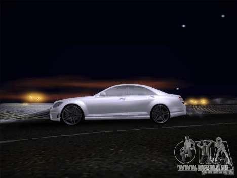 Mercedes-Benz S65 AMG V2.0 pour GTA San Andreas sur la vue arrière gauche