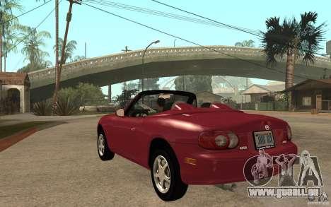Mazda MX5 - Stock für GTA San Andreas zurück linke Ansicht