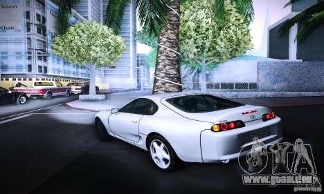 Toyota Supra Tuneable pour GTA San Andreas laissé vue