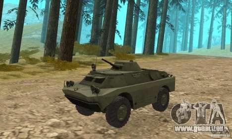 BRDM-2 Edition Standard pour GTA San Andreas laissé vue