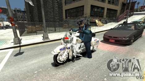 Police Bike für GTA 4 Rückansicht