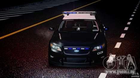 Ford Taurus Police Interceptor 2011 [ELS] für GTA 4 Unteransicht