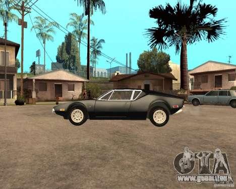 1971 De Tomaso Pantera für GTA San Andreas linke Ansicht