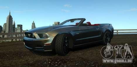 Ford Mustang GT Convertible 2013 für GTA 4