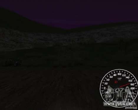 Bêta de l'indicateur de vitesse 1,5 pour GTA San Andreas troisième écran