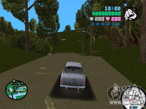 ZAZ 965 pour une vue GTA Vice City de la droite