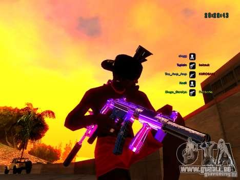 Purple chrome sur armes pour GTA San Andreas sixième écran