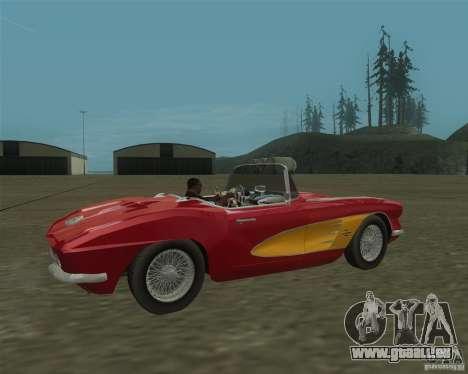Chevrolet Corvette 1961 pour GTA San Andreas laissé vue