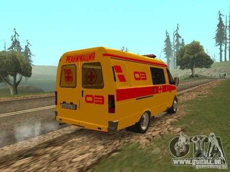 GAZ réanimation 32217 pour GTA San Andreas sur la vue arrière gauche
