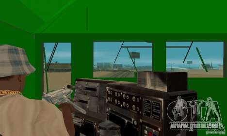 THE GO Transit Train für GTA San Andreas Rückansicht