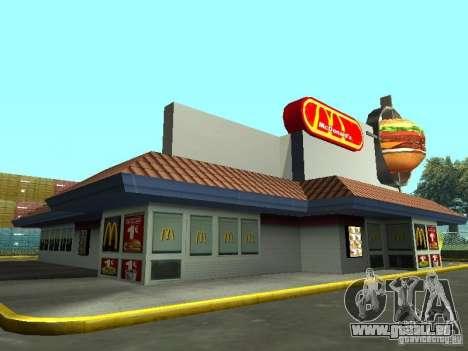 Mc Donalds pour GTA San Andreas cinquième écran