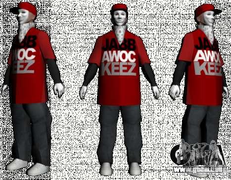 JabbaWockeeZ Skin für GTA San Andreas