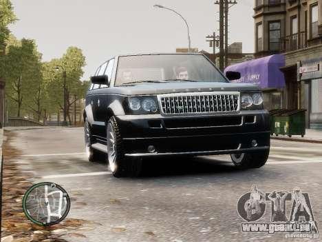 Land Rover SPORT 4.2L pour GTA 4 Vue arrière de la gauche