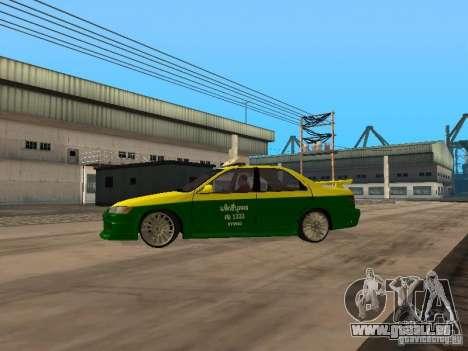 Toyota Camry Thailand Taxi pour GTA San Andreas laissé vue