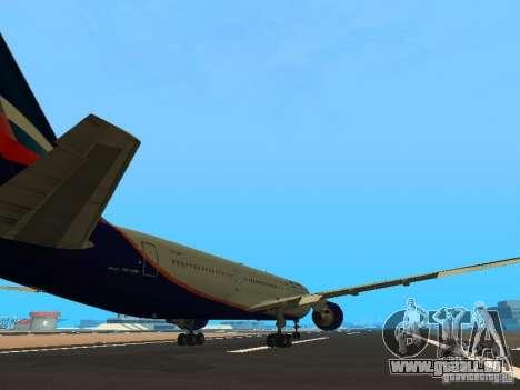 Boeing 767-300 Aeroflot pour GTA San Andreas vue de droite
