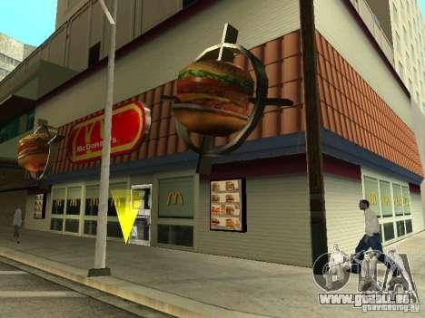 Mc Donalds pour GTA San Andreas huitième écran