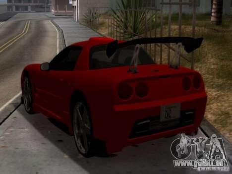 Chevrolet Corvette C5 für GTA San Andreas zurück linke Ansicht