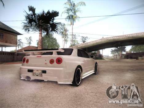 Nissan Skyline R34 für GTA San Andreas rechten Ansicht