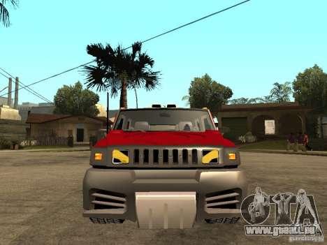 Hummer H2 NFS Unerground 2 für GTA San Andreas rechten Ansicht