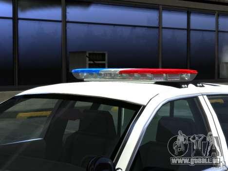 Ford Crown Victoria LAPD [ELS] pour GTA 4 est une vue de l'intérieur