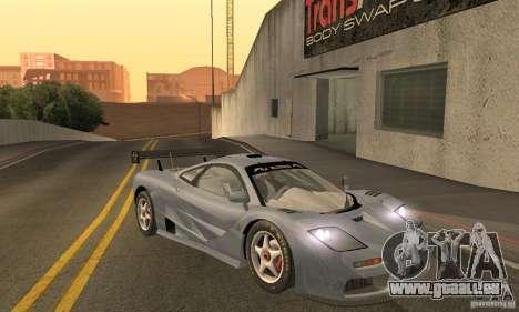 Mclaren F1 LM (v1.0.0) für GTA San Andreas Rückansicht