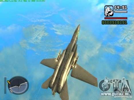 F 14 A TOMCAT für GTA San Andreas Rückansicht