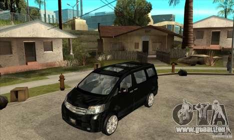 Toyota Alphard Hybrid pour GTA San Andreas