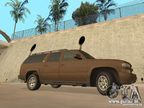 Chevrolet Suburban 2003 pour GTA San Andreas sur la vue arrière gauche