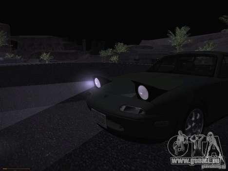 Mazda MX-5 1997 pour GTA San Andreas vue de dessus