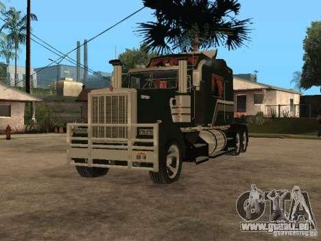 Custom Kenworth w900 - Custom - Trailer für GTA San Andreas linke Ansicht