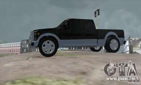 FORD F450 SUPER DUTE pour GTA San Andreas laissé vue