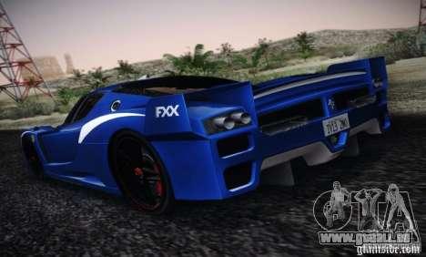 Ferrari FXX Evoluzione für GTA San Andreas linke Ansicht
