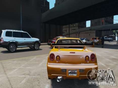 Nissan Skyline GT-R R34 Fast and Furious 4 für GTA 4 rechte Ansicht
