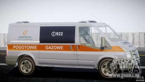 Ford Transit Usluga polski gazu [ELS] pour GTA 4 Vue arrière