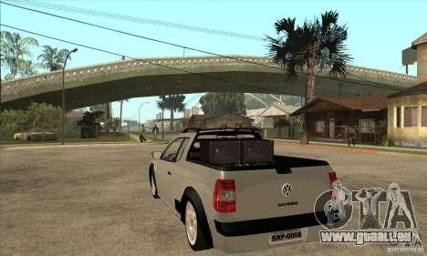 Volkswagen Saveiro G5 für GTA San Andreas zurück linke Ansicht