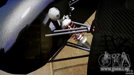 Caterham 7 Superlight R500 pour GTA 4 est une vue de l'intérieur