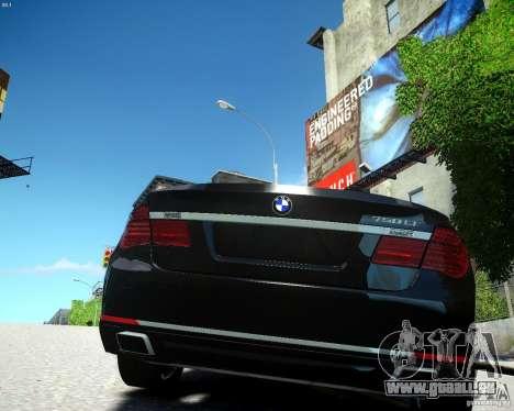 BMW 750Li 2013 pour GTA 4 Vue arrière de la gauche