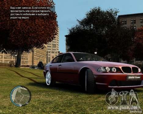 BMW 320i E46 v1.0 pour GTA 4 est une gauche