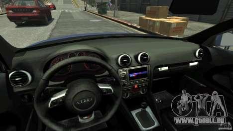 Audi S3 2006 v1.1 n'est pas tonirovanaâ pour GTA 4 est une vue de l'intérieur