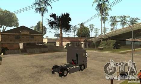 DAF XF pour GTA San Andreas vue arrière