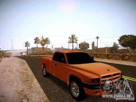Dodge Ram 1500 Dacota pour GTA San Andreas vue arrière