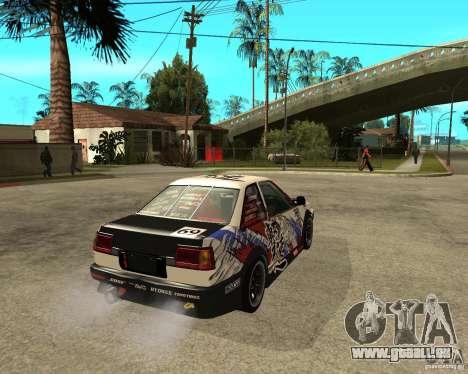 Yoshikazu AE86 für GTA San Andreas zurück linke Ansicht