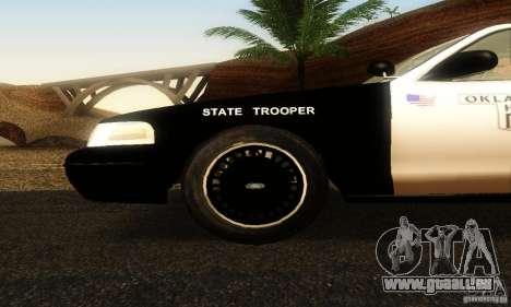 Ford Crown Victoria Oklahoma Police pour GTA San Andreas vue de droite