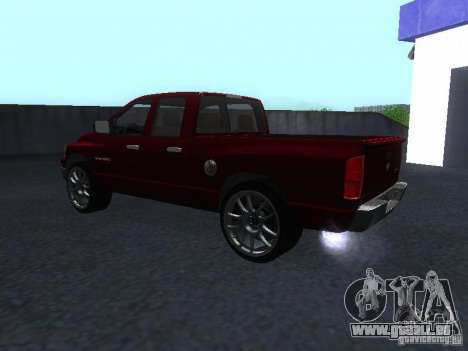 Dodge Ram 1500 v2 für GTA San Andreas zurück linke Ansicht