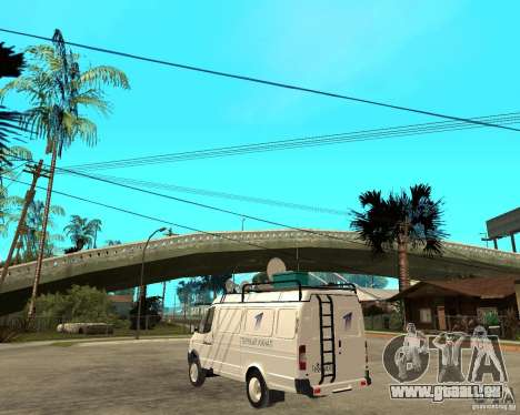 Gazelle 2705-News-Kanal für GTA San Andreas linke Ansicht