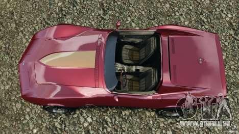 Chevrolet Corvette Sting Ray 1970 Custom pour GTA 4 est un droit