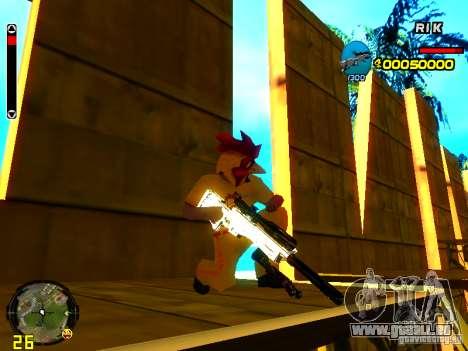 White Chrome Guns für GTA San Andreas fünften Screenshot