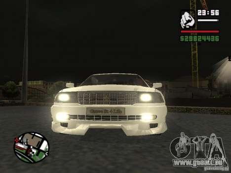 Toyota Crown Tunable für GTA San Andreas zurück linke Ansicht